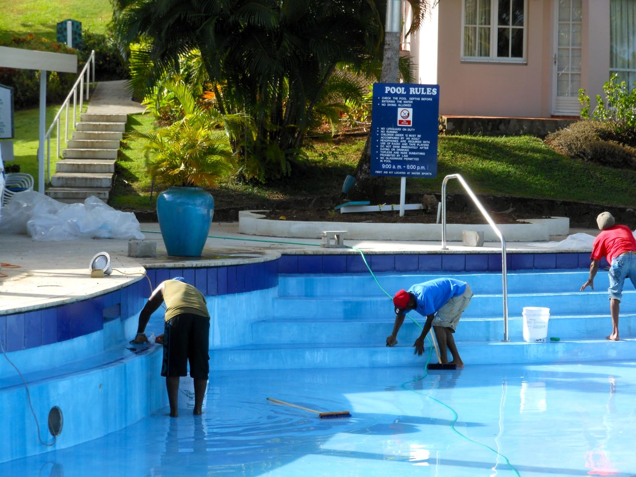 Water sanitization a prerequisite for pool maintenance for Pool service