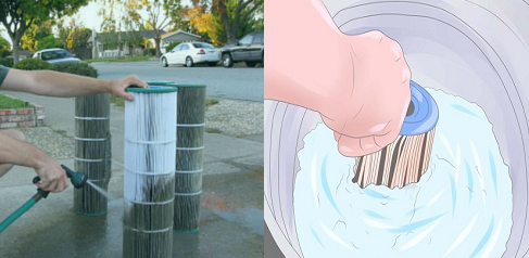 clean filter cartridge