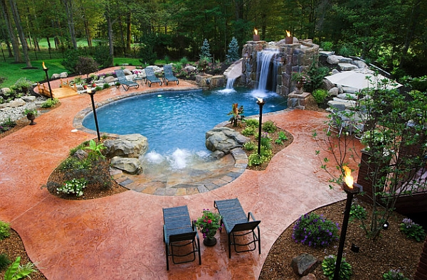 a cool pool deserves a cool backyard